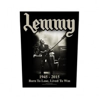 Lemmy Kilmister Lived to Win Motorhead Back Patch Sew On Official Badge Album