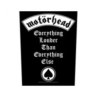 Motorhead Everything Louder Black Sew On Back Patch Badge Album Cover Official