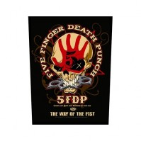 Five Finger Death Punch Way Of The Fist Back Patch Sew On Official Badge Album