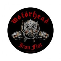Motorhead Iron Fist Round Black Sew On Back Patch Badge Album Cover Official