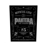 Pantera Black Back Patch 101% Proof Rock Band Sew On Official