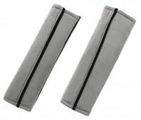 Grey Car Seat Belt Protection Cover Shoulder Pad Harness Travel Comfort Comfy