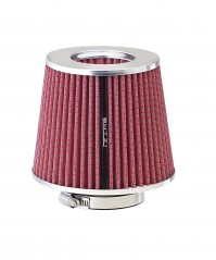 Universal Heat Shield Air Filter Pink Chrome Racing Adapter Car Driving Sport