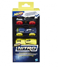 Nerf Nitro Refill Assorted Car 3 Pack For Nitro Blasters Kids Child Toy Ages 5+