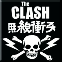 The Clash Metal Steel Fridge Magnet Skull And Crossbones Album Fan Official