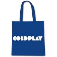 Official Coldplay Logo Eco Shopper Bag Official Blue White