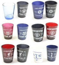 Various Football Club Two Pack Home Team Shot Glasses 40ml Official Product