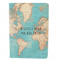 Pocket Size Notebook Notepad World Map A Little Book Big Ideas Travelling Gift