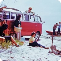 Volkswagen Original Camper Van Beach Single Coaster Official
