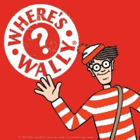 Where's Wally Red and White Single Coaster Licensed Official