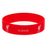 Liverpool FC Alisson Silicone Bracelet Red Wristband Gummy Rubber Badge Official