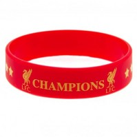 Liverpool Champions Of Europe Silicone Bracelet Wristband Gummy Rubber Official