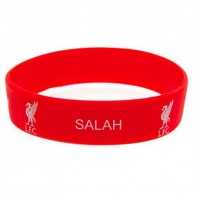 Liverpool F.C Salah Silicone Bracelet Red Wristband Gummy Rubber Badge Official