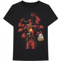 Marvel Comics Official Deadpool Arms Mens Black Short Sleeve T-Shirt Wade Wilson