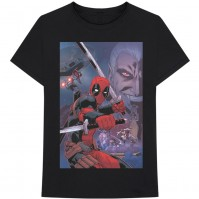 Marvel Comics Official Deadpool Composite Mens Black Short Sleeve T-Shirt Wilson