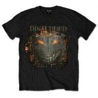 Disturbed Fire Behind Large Mens Black T Shirt Album Cover Metal Band Official