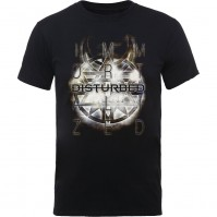 Disturbed Official Symbol Mens Black Short Sleeve T-Shirt Rock Band