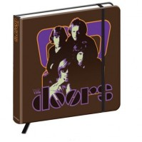 The Doors Brown Hardback Journal Notebook 70s Panel Image Band Logo Official