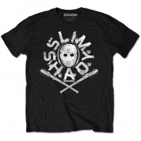 Eminem Official Shady Mask Mens Black Short Sleeve T-Shirt Rap Logo Retro