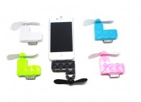Blue iPhone 3G 3GS 4S iPod iPad 1 2 iTouch Portable Mini Fan Cooler