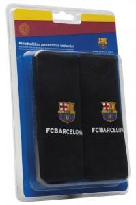 FCB Barcelona Childs Car Comfort Seat Belt Pads Black Comfort Safety Harness