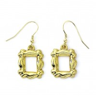 Friends Official Gold Plated Door Frame Wire Hook Dangle Earrings Hole
