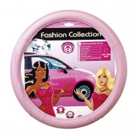 Pink Classy Soft Leather Car Steering Wheel Cover Glove Girls Ladies Lady Grip