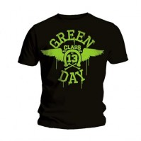 Green Day Mens Neon Black Logo T Shirt Short Sleeve Official Rock Band