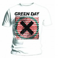 Green Day Mens Xllusion White T Shirt Short Sleeve Official Rock Band