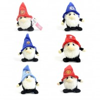Various Football Club Team 7 Inches Plush Toy Gnomes Crest Badge Fluffy Hat