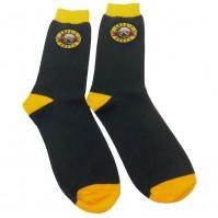 Guns N' Roses Official Unisex Adult Socks Circle Logo UK Size 7-11 Black Yellow
