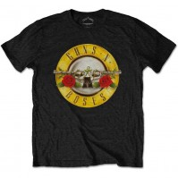 Guns N Roses Unisex Classic Logo Black T-Shirt Tee Short Sleeves Official