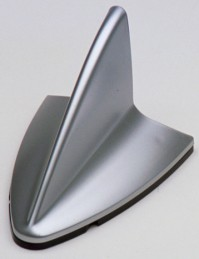 Car Radio Gps Antenna Dummy Silver Decorative Shark Fin Mock Fake