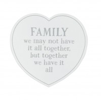 Family Together Heart Coaster White Modern Artisan Design Interior Trend
