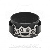 Five Finger Death Punch Official Leather Wrist Strap Knuckle Duster 5FDP