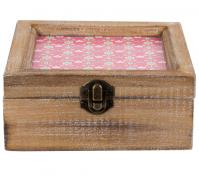 Summer Retro Daisy Jewellery Box Natural Wood Storage Rustic Decoration Gift