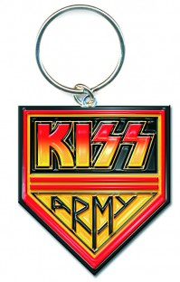KISS Army Pennant Black Red Yellow Metal Keychain Keyring Fan Gift Idea Official