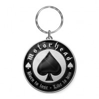 Lemmy Motorhead Born To Lose Silver Black Metal Keychain Keyring Gift Official