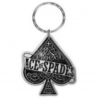 Lemmy Motorhead Ace Of Spades Silver Black Metal Keychain Keyring Gift Official