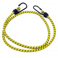 Bungee Cord Cable Luggage Elastic Yellow 2 x 100cm Straps Hooks Stretch Car Bike