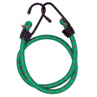 Bungee Cord Cable Luggage Elastic Green 2 x 60cm Straps Hooks Stretch Car Bike