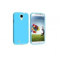 Samsung Galaxy S4 Case Blue Soft Gel Cover And 1 x Screen Protector 1 x Cloth