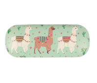 Lima Llama Light Green Glasses Case Sunglasses Hard Case Ladies Gift Cute Quirky