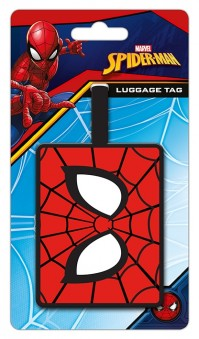 Marvel Comics Official Spiderman Eyes Luggage Travel Tag Suitcase Bag Avengers