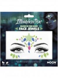 Moon Glow Glow In The Dark Face Jewels Illumination Festival Fancy Dress
