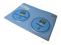 2 x Manchester City FC Wash Room Home Changing Robe Clothes Hooks Pegs Official