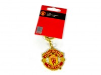 Manchester Utd Football Club Badge Crest Metal Fob Keyring Keychain Official