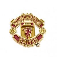 Man Utd MUFC Football Club Metal Pin Badge Crest Red Devil Logo Emblem Official