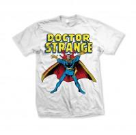 Marvel Comics Mens Small White T-Shirt Doctor Strange Wizard Motif Official