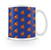 Superman Classic Logo Pattern DC Comics Originals Coffee Tea Mug Ceramic Official